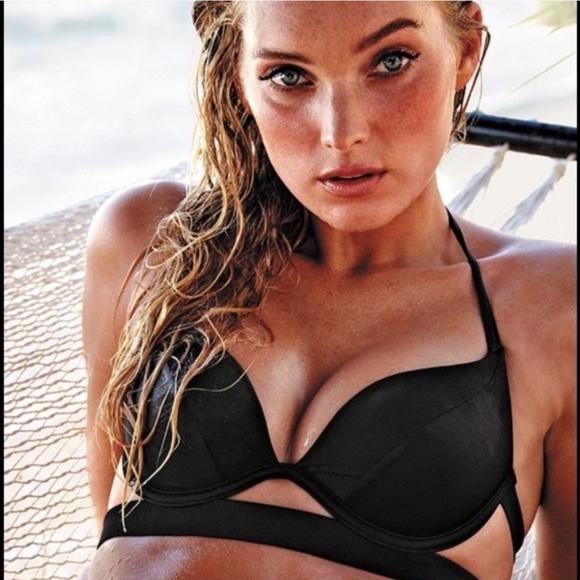 Victoria's Secret Other - VS 34A Hottie padded black bikini halter top